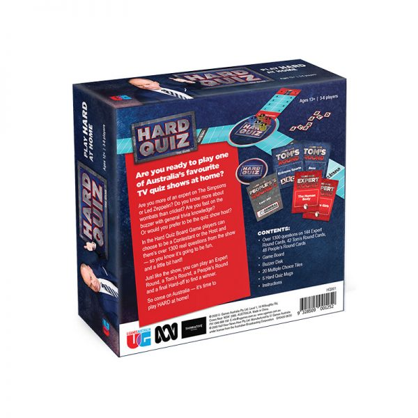 Hard Quiz The Game Back of Box